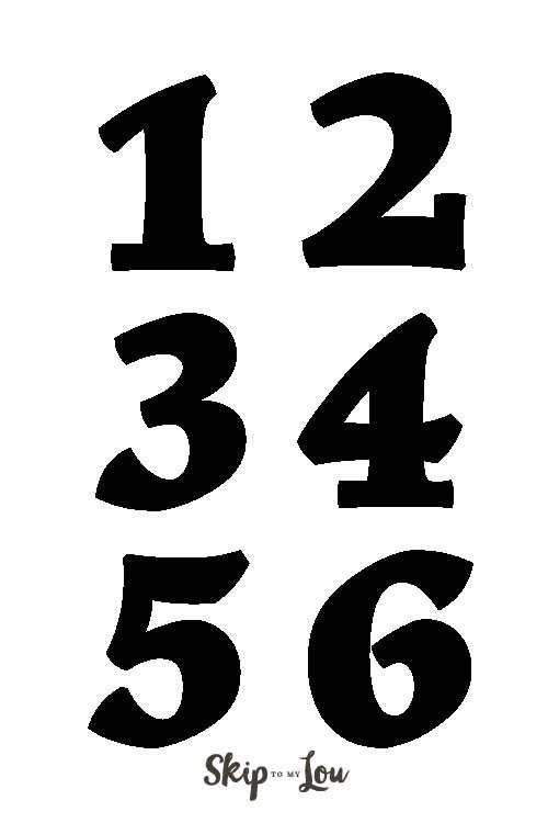 These number templates can be a guide for your DIY projects I - number template