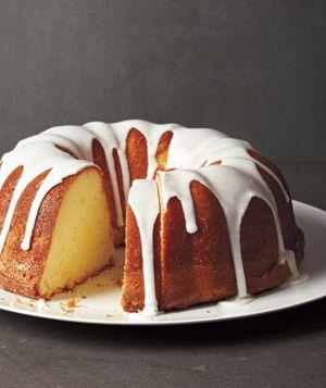 Receita do bolo de limão Glazed Libra