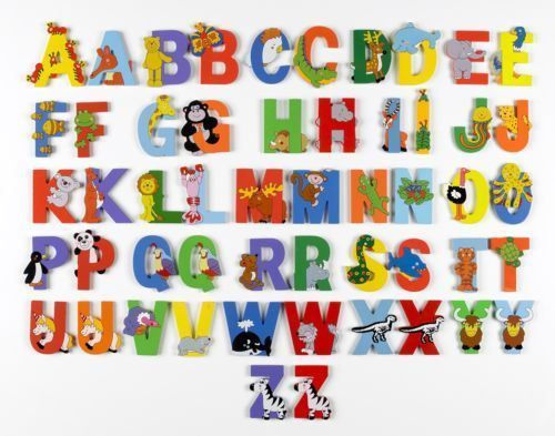 Image of: Abc Wooden Jungle Animal Alphabet Letters Personalised Bedroom Wall Door Name Ebay Bangladeshclubclub Wooden Jungle Animal Alphabet Letters Personalised Bedroom Wall Door