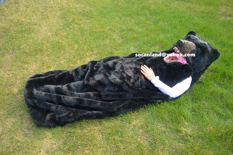 Deluxe Black Bear Fursuit,Black Bear Cosplay Costume,Black Bear ...