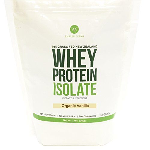 Antler Farms 100 Pure Clean Grass Fed New Zealand Whey Protein Isolate Organic Vanilla 30 Servings 2 Lbs Whey Protein Isolate Organic Protein Whey Protein