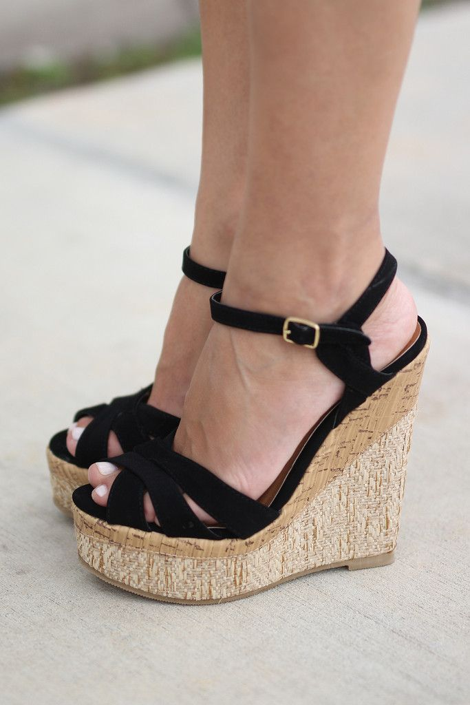 a little too high, but would like some black wedges like this