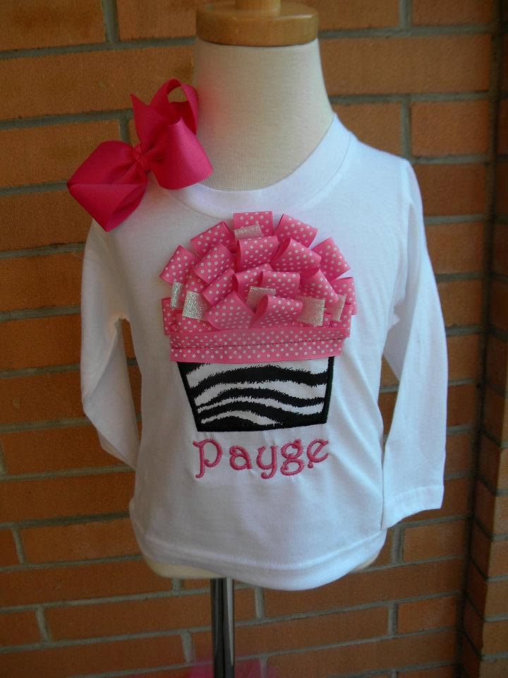 Ribbon cupcake birthday shirt sewing crafts pinterest ribbon cupcake birthday shirt for girls do it yourself visual know how solutioingenieria Images