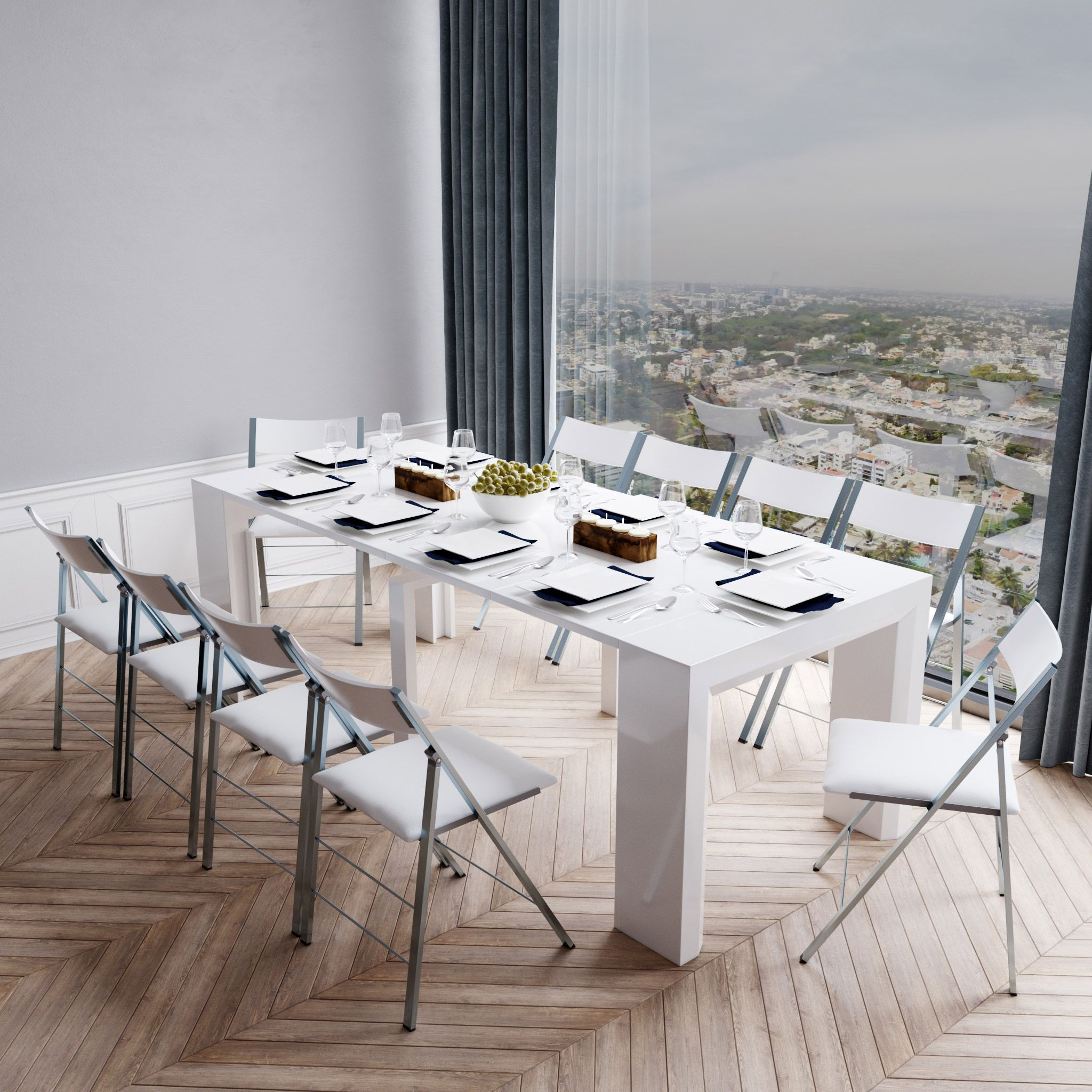 Junior Giant Extending Table Set with Chairs   Expand Furniture ...