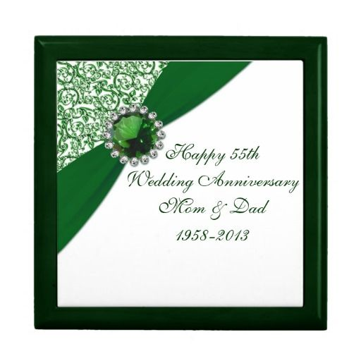 Personalised Emerald Wedding Anniversary Card For Wife Parents 55 Years Together Grandparents Gift 55 Years Married