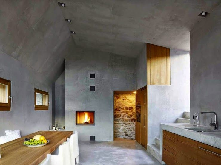 Renovated old house in Switzerland in an original way