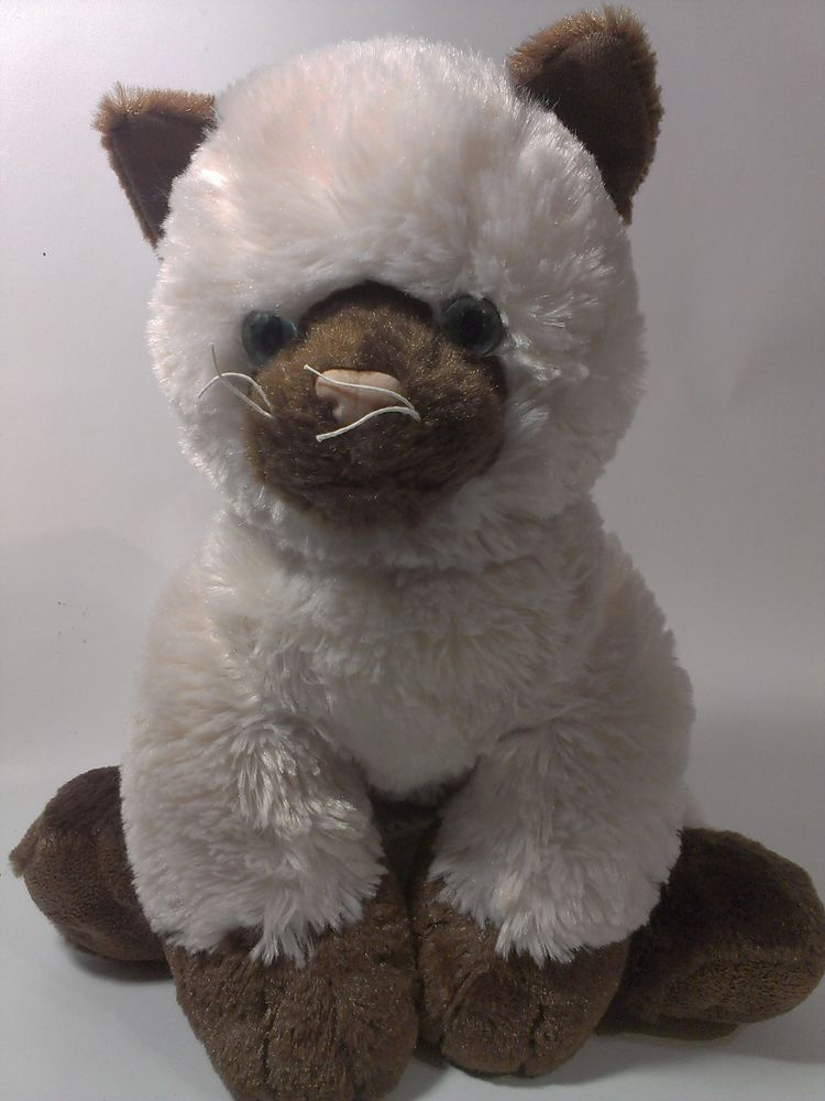 Build A Bear Workshop Siamese Cat Plush Stuffed Animal Kitty Kitten