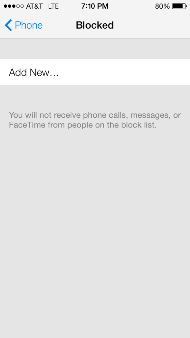 Blocking feature on Apple's New iOS 7 allows you to opt out of receiving calls and messages from certain people.