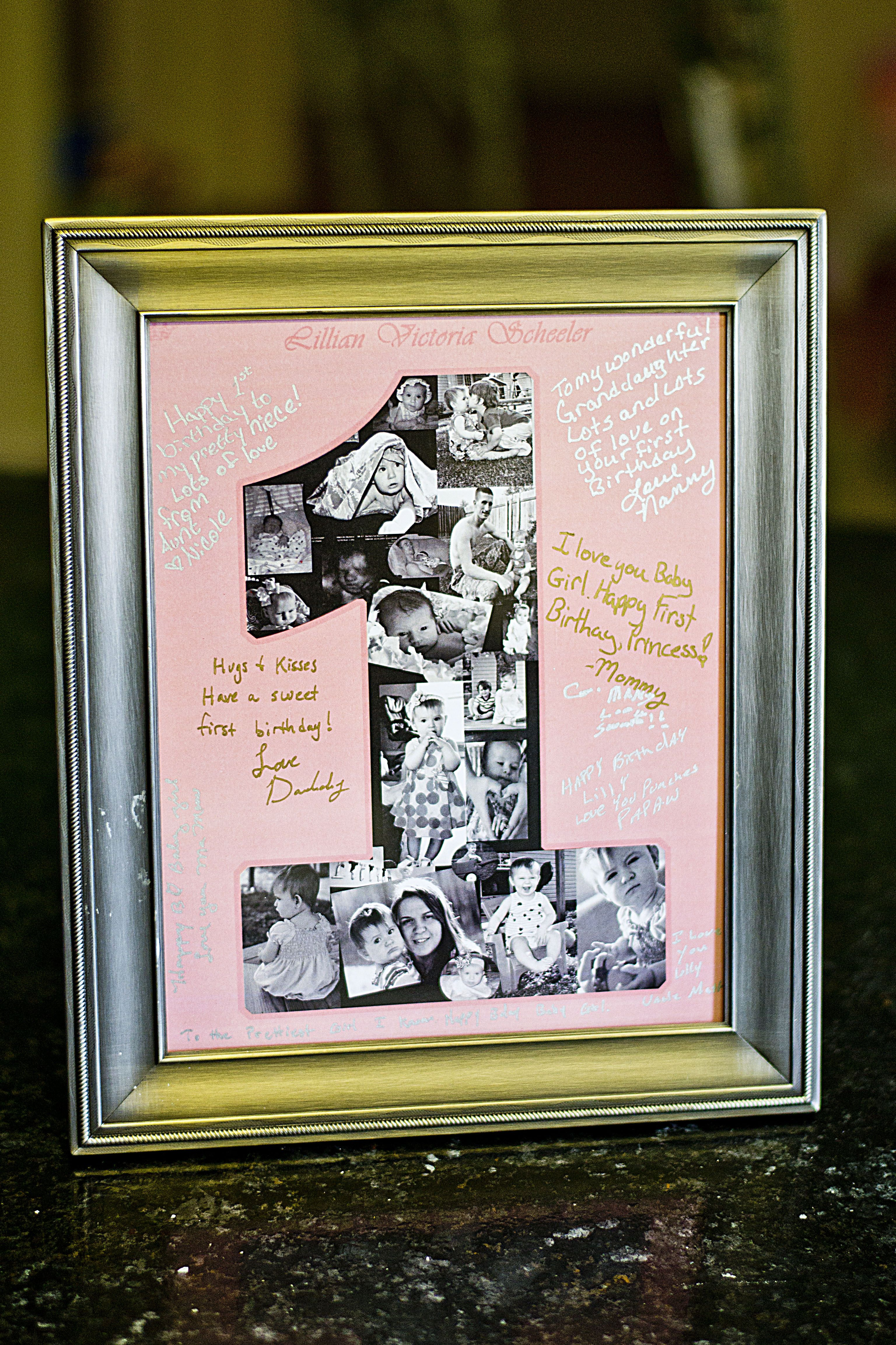 Autograph Personalized Birthday Photo Lilly inspired