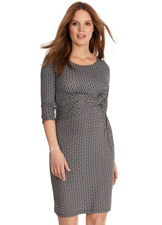 ba06c35d059 Queen Bee Black Chain Print Maternity Dress by Seraphine
