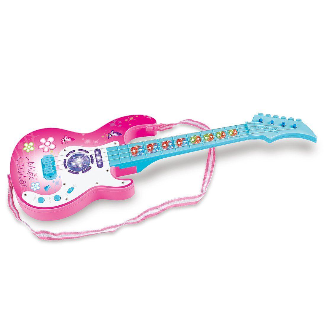 Der Spielzeugtester Hat Das Wolfbush 4 Saiten Music E Gitarre Kindergitarre Kinder Musikinstrumente Padagogisches Spielzeug In 2020 E Gitarre Gitarre Kinder Gitarre