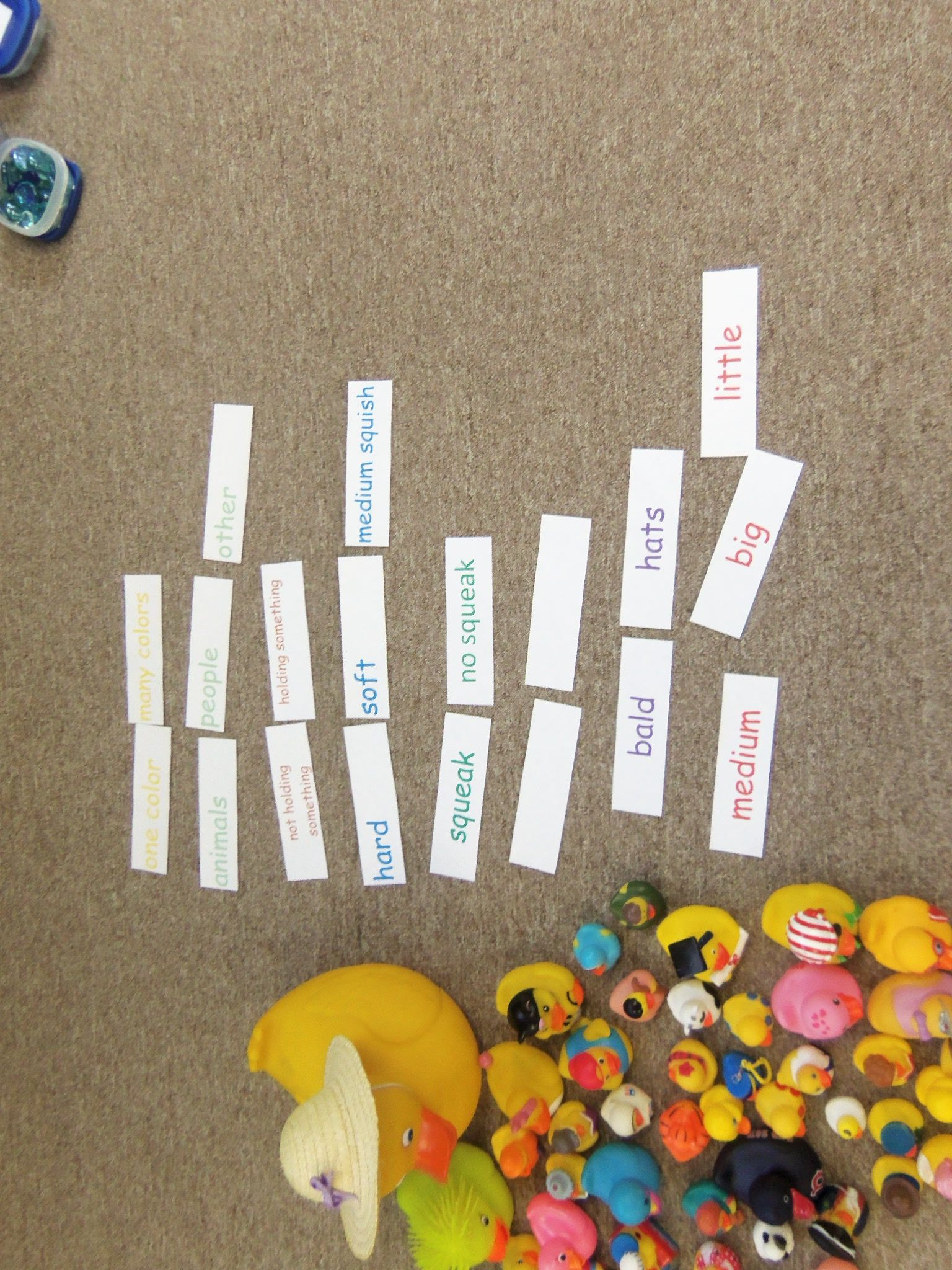 Collection For Sorting Preschool Math Rubber Ducks And