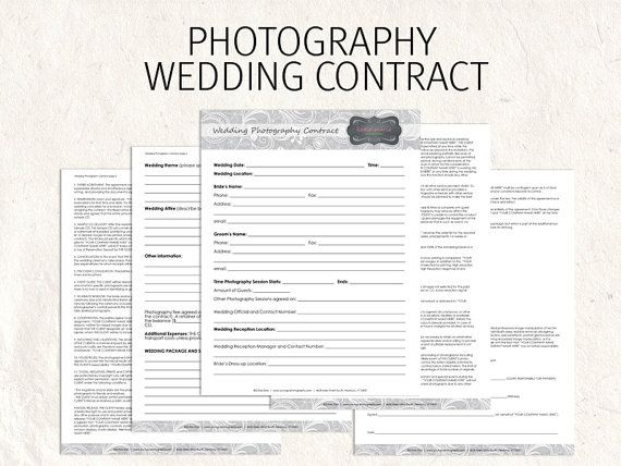 78 Best images about wedding photography contract template on – Contract Templates Word