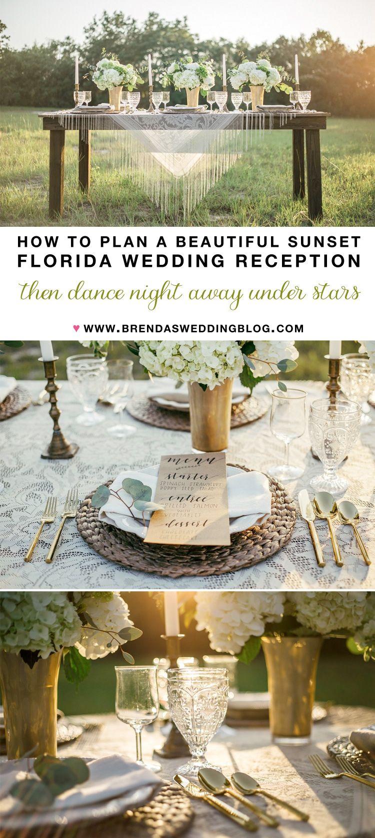 how to plan a beautiful sunset florida wedding reception wedding