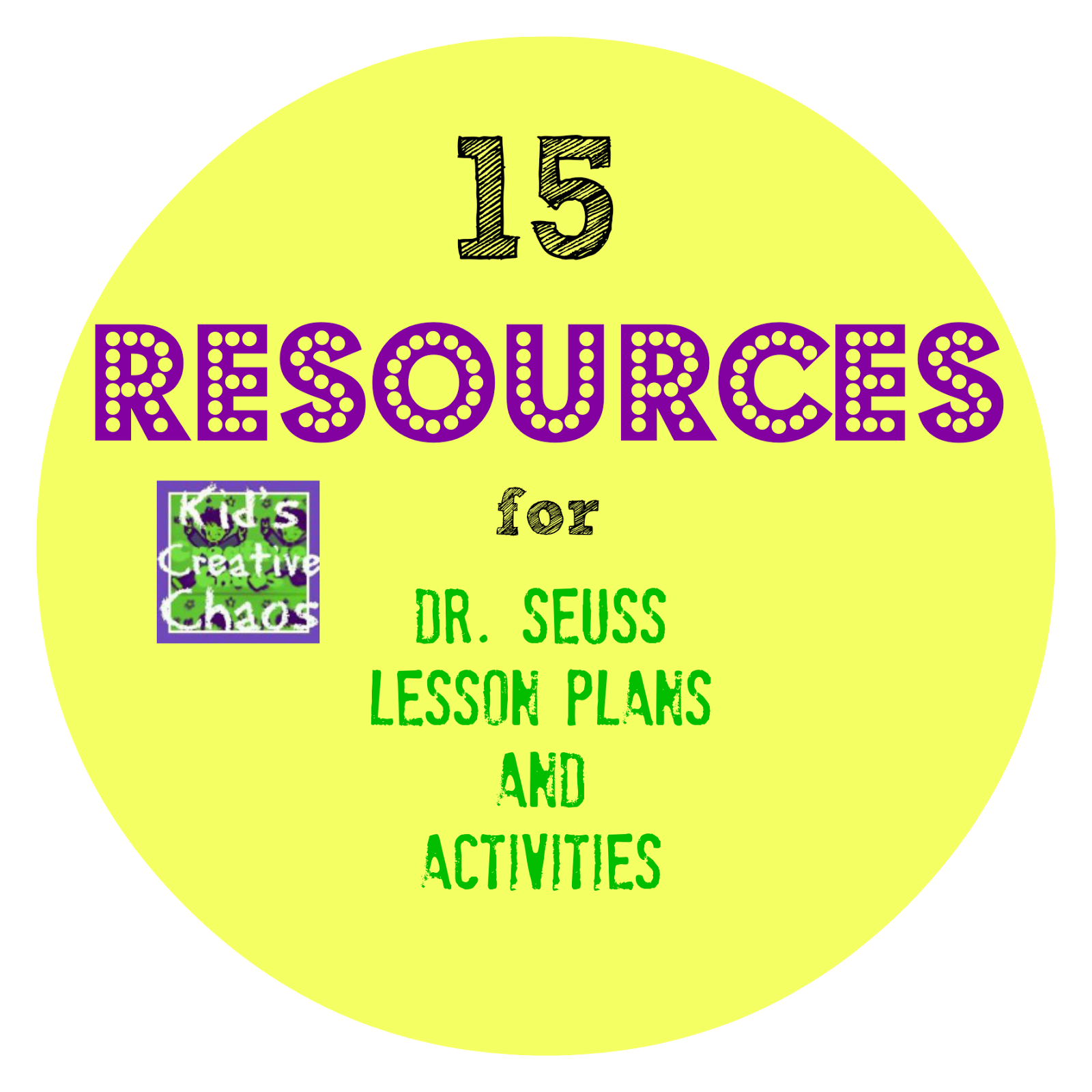 15 Resources For Dr Seuss Lesson Plans Elementary School