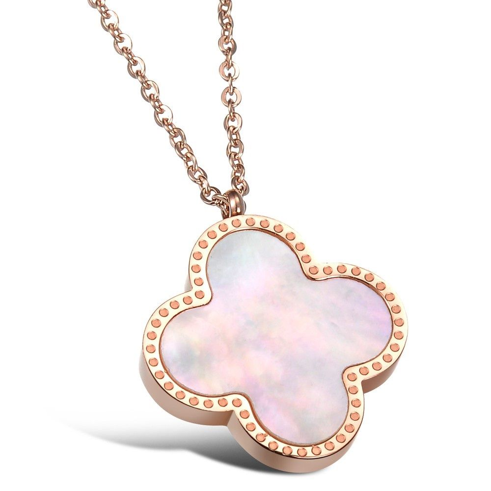 Women s four leaf lucky clover rose gold plated stud earrings womens four leaf lucky clover rose gold plated stud earrings pendant set pendant necklace aloadofball Image collections