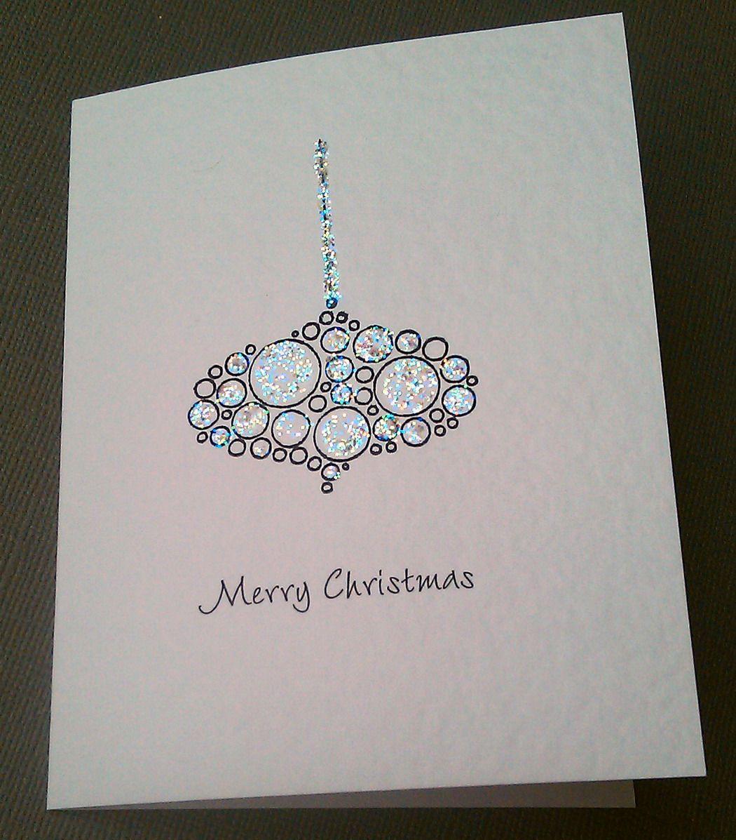 Religious Christmas Cards Uk.Image Detail For Sparkling Baubles Handmade Christmas Card