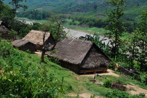 Beautiful Laos Village along the route