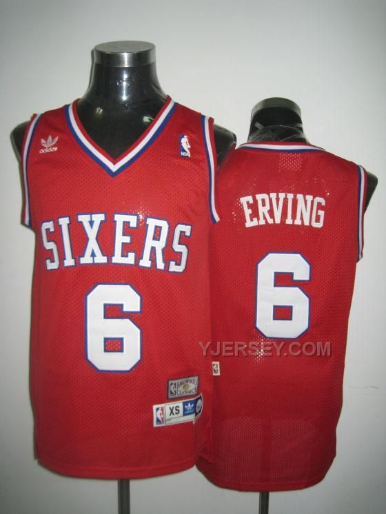 ... Blue Grey Purple NBA Sixers 6 Erving Red Jerseys 2365dc01b