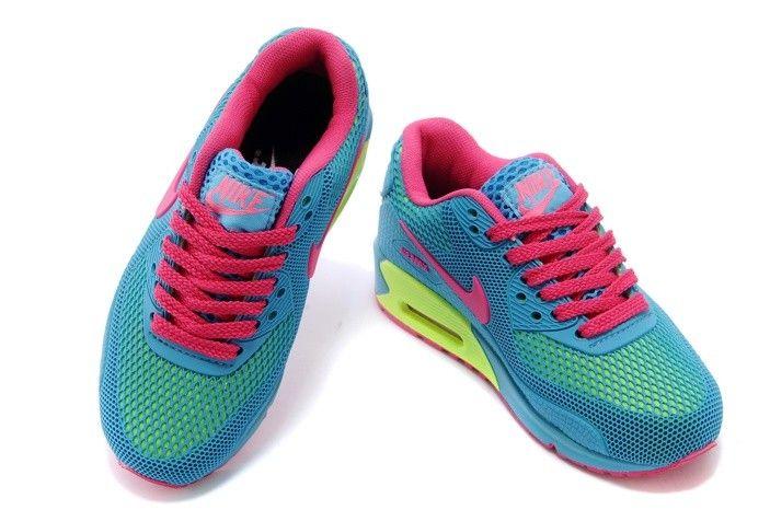 19c16f915c Nike Air Max Kids Shoes Tpu Kpu Green Yellow Pink  78.93