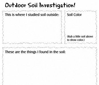 soil treasure hunt a fun activity for elementary students to learn about soil click through. Black Bedroom Furniture Sets. Home Design Ideas
