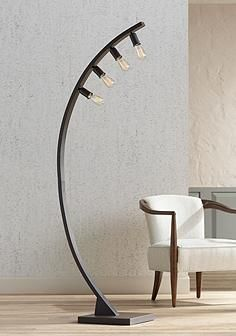 Franklin Iron Works Arcos Bronze Arch Floor Lamp Arched Floor