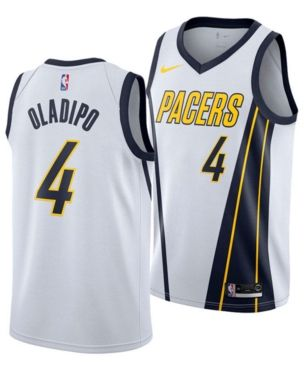 b31d0ceef Nike Men s Victor Oladipo Indiana Pacers Earned Edition Swingman Jersey -  White 3XL