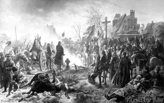 Wilhelm Camphausen: Fine Art Reproduction Der Choral am Abend der Schlacht bei Leuthen by Wilhelm Camphause...