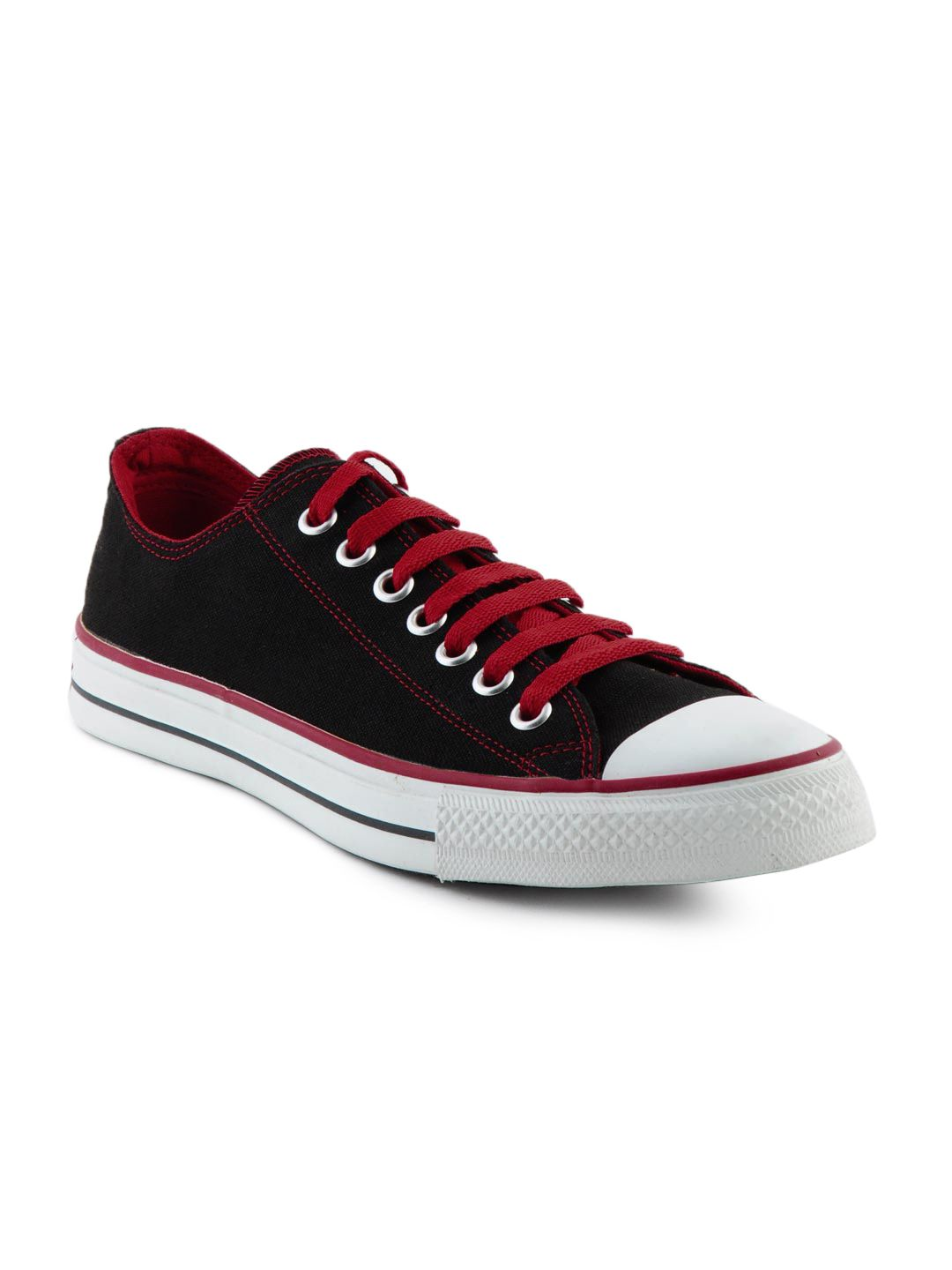 f9c85f9fd985b8 Chuck Taylor  Converse Black and Red  Sneakers  Myntra.com ...