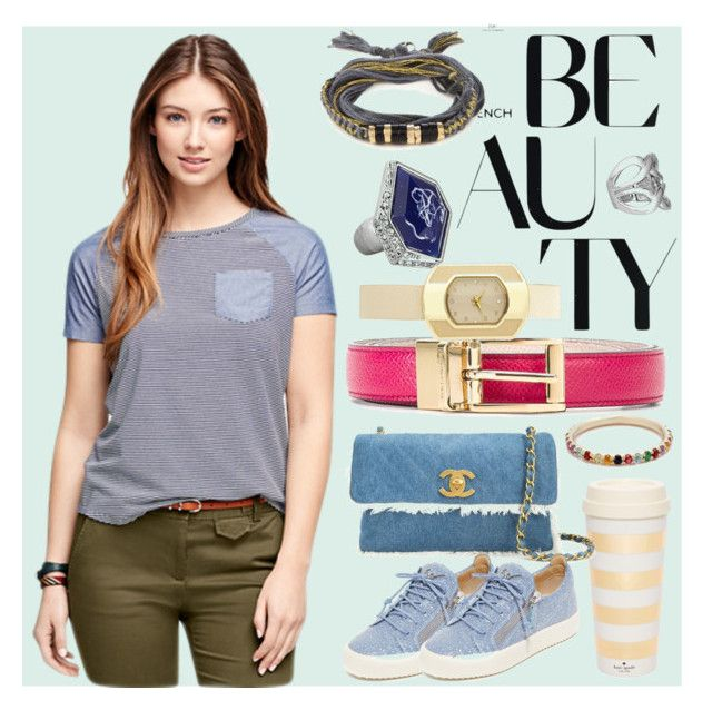 """Cool Beauty"" by gadinarmada-1 ❤ liked on Polyvore featuring Brooks Brothers, Kate Spade, Aurélie Bidermann, Dolce&Gabbana, Chanel, Giuseppe Zanotti, Avenue and Ariel Gordon"