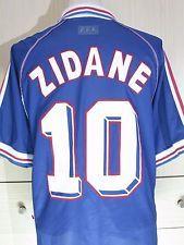 Zinedine Zidane France World Cup 1998 Home Adidas Football Shirt Soccer Jersey L Sports Fan Shirt Fan Shirts Adidas Football