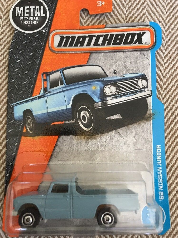 2018 Matchbox 1962 Nissan Junior Blue Pickup Truck Ebay