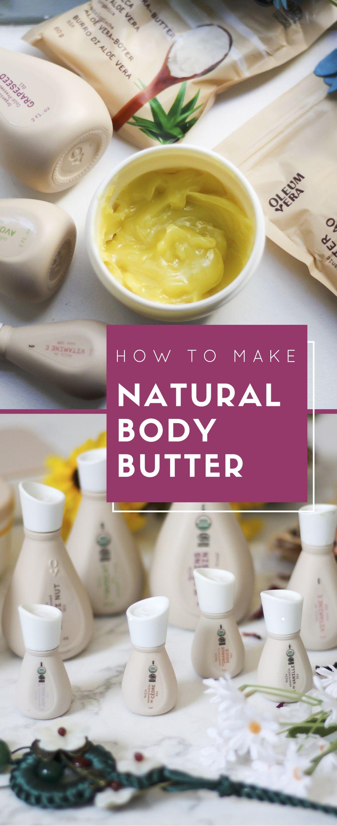 Diy skin care with oleum vera body butter recipe layers