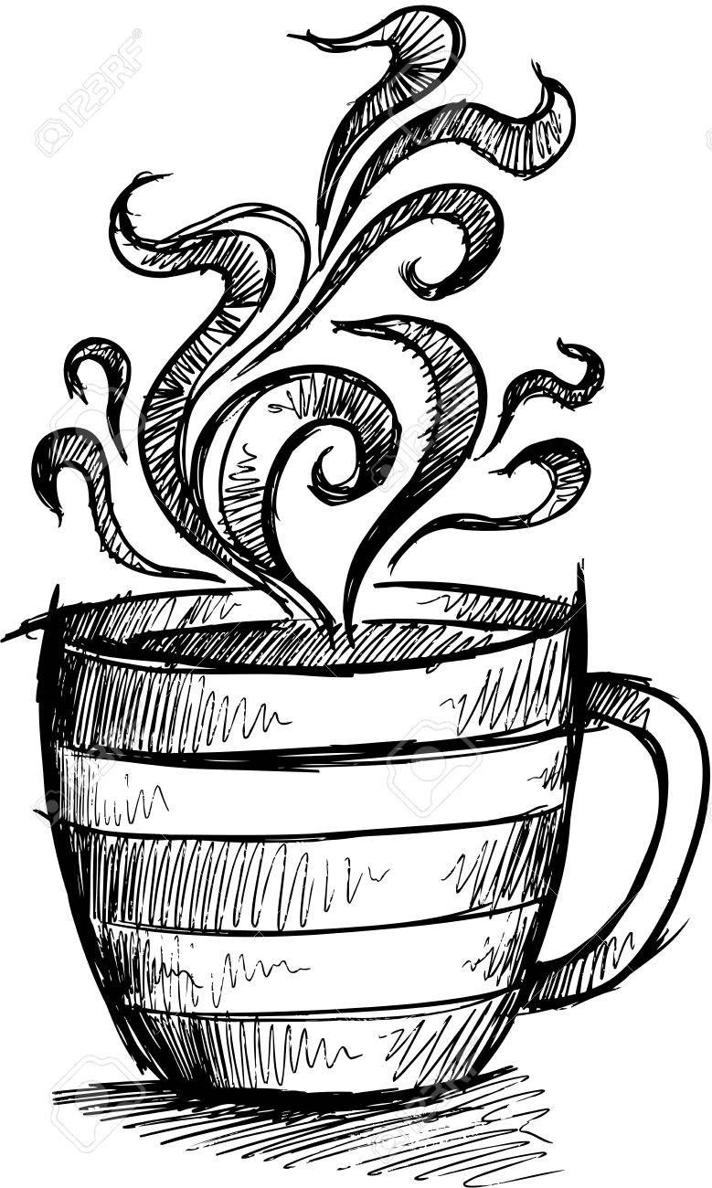 sketch doodle coffee cup illustration art to draw in 2019  sketch doodle coffee cup illustration art
