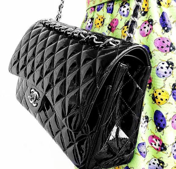 Chanel Jumbo Double Flap Rm 11500 Cash Price 2250 2500 2760 Black Patent Leather W Silver Hardware Condi Chanel Jumbo Caviar Chanel Dubai Chanel Jumbo