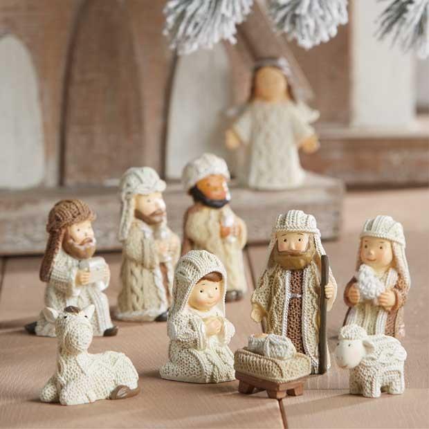 Cozy Little Knit Nativity, Set of 10 Antique farmhouse