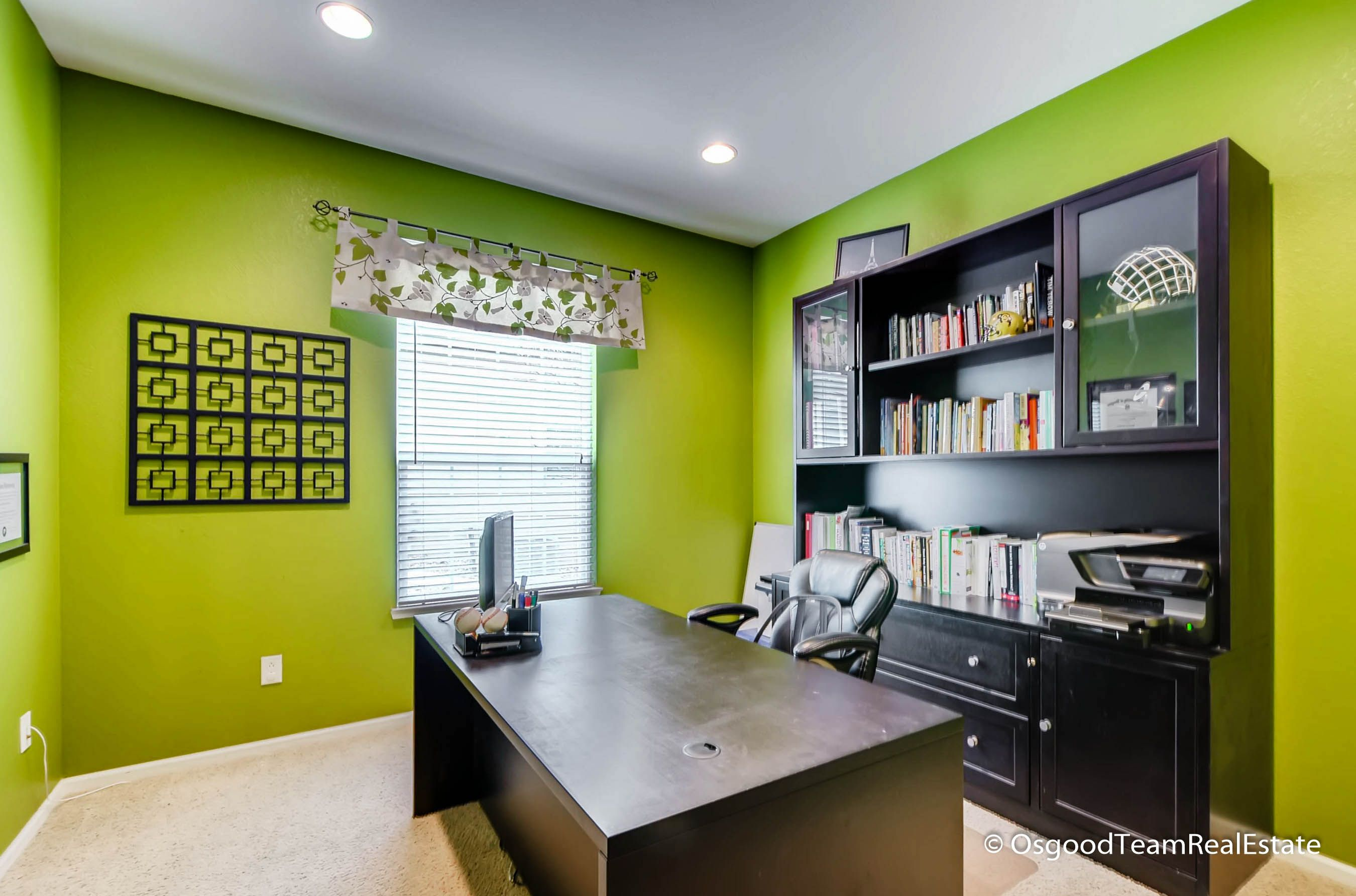 lime green office. Private Office With French Doors - Love The Lime Green Walls! C