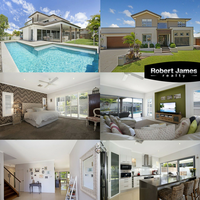 #RobertJamesRealty #Propertyforsale #Realestate  This superb architecturally designed residence has an enviable rear north aspect, perfect for all year round entertaining and relaxing around the pool. The very spacious open plan design with an abundance of light has two separate TV alcoves, ideal for choice of furniture placement, Large office/study at front entrance etc.  Location: 16 Regatta Circuit, Noosaville, QLD, 4566 Click here for more info: http://bit.ly/1OqJlO8