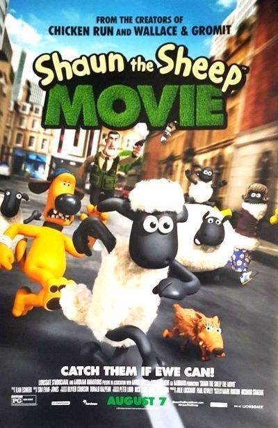 SHAUN THE SHEEP - 2015 - orig 27x40 D/S REGULAR Movie Poster - JUSTIN FLETCHER