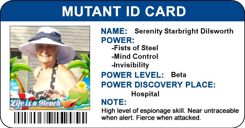 What Does Your Mutant Id Card Look Like  Silly Games I Play