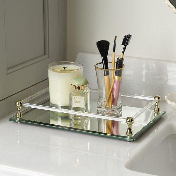 Ballard Designs Emmie Mirror Tray 75 Liked On Polyvore