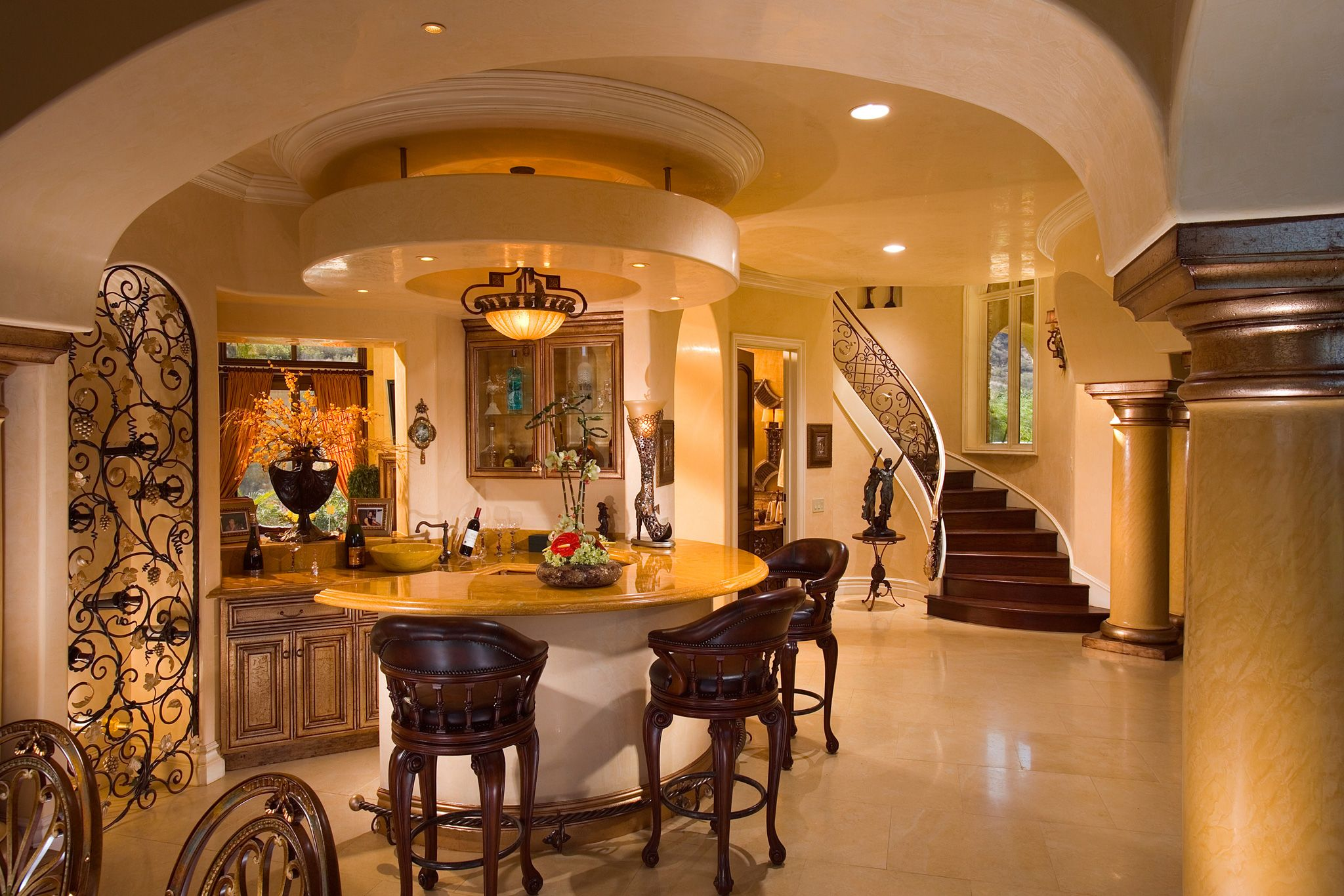 Wetbar beautiful tuscan style home by john b scholz for Scholz home designs