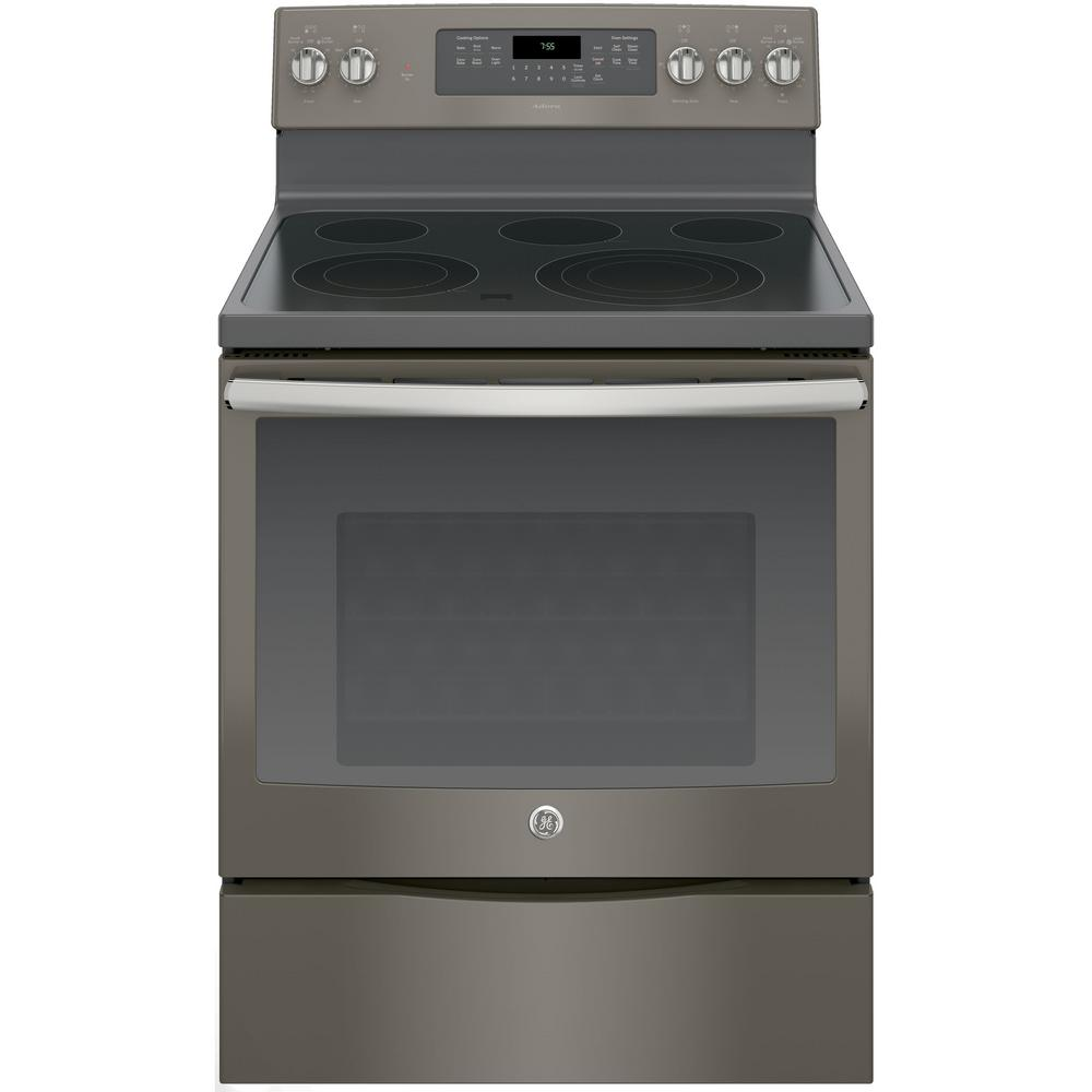 Ge Adora 5 3 Cu Ft Electric Range With Self Cleaning Convection
