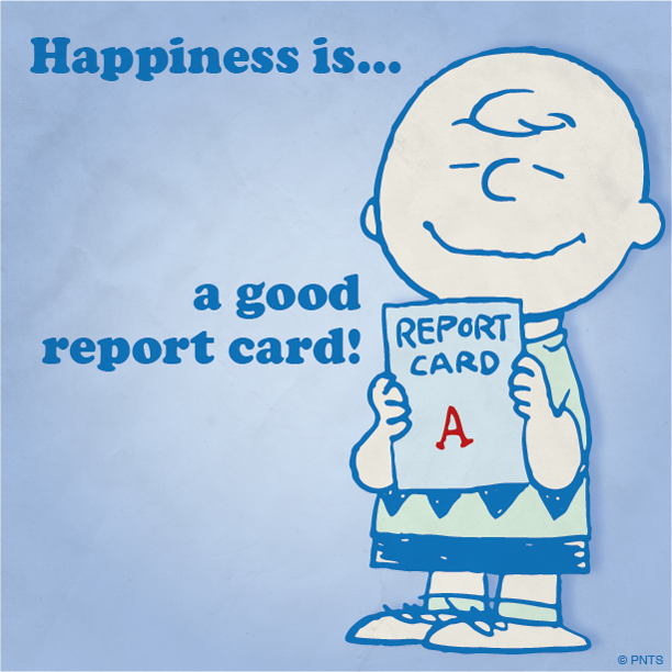 Happiness is a good report card peanuts shareables for Charlie s fishing report