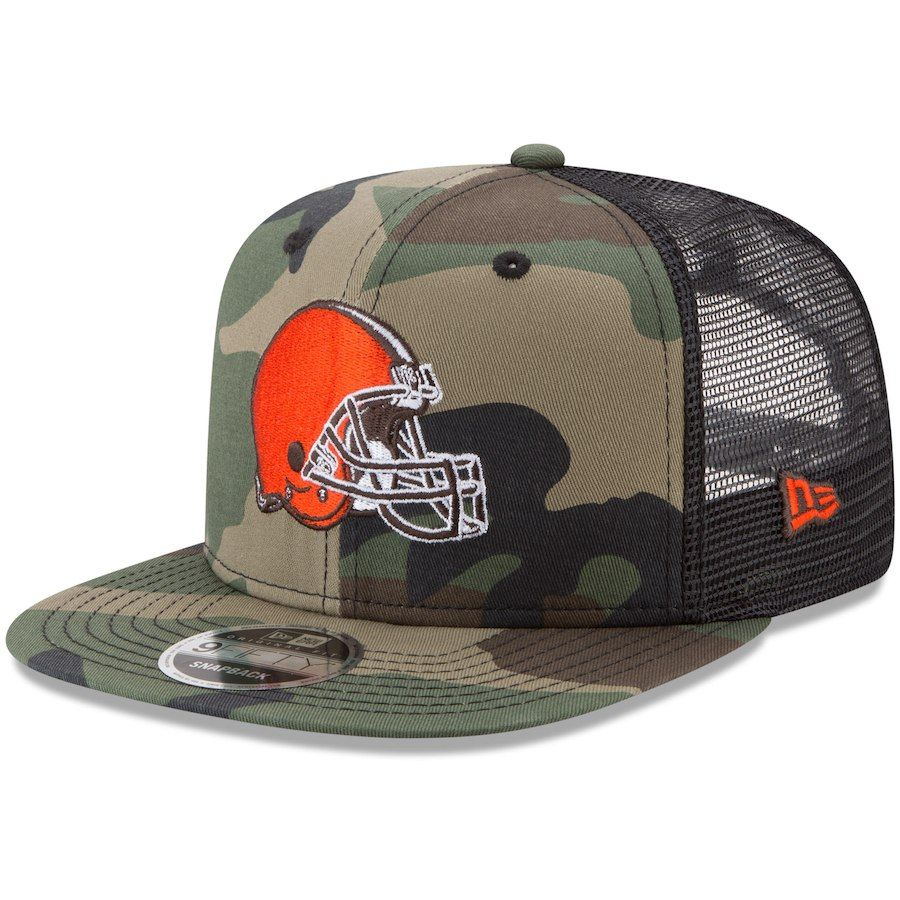 fab56b79cfd832 Men's Cleveland Browns New Era Woodland Camo/Black Trucker 9FIFTY Snapback  Adjustable Hat, Your Price: $31.99