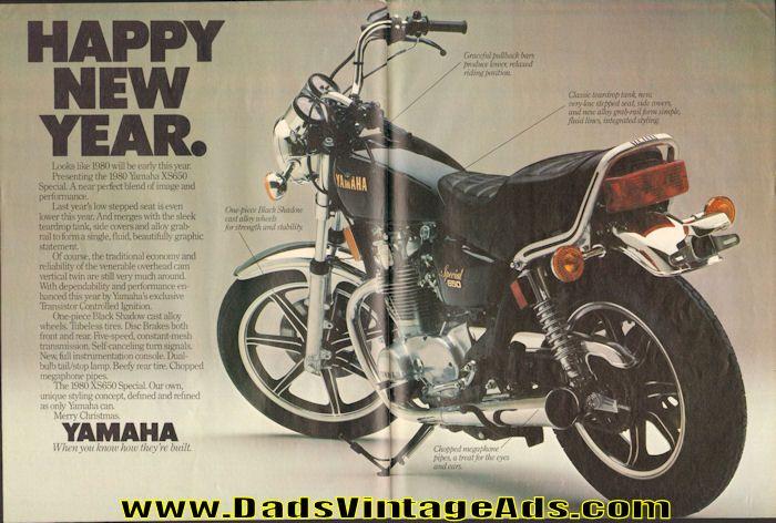 1980 Yamaha Xs650 Special Happy New Year 2 Page Ad Yamaha