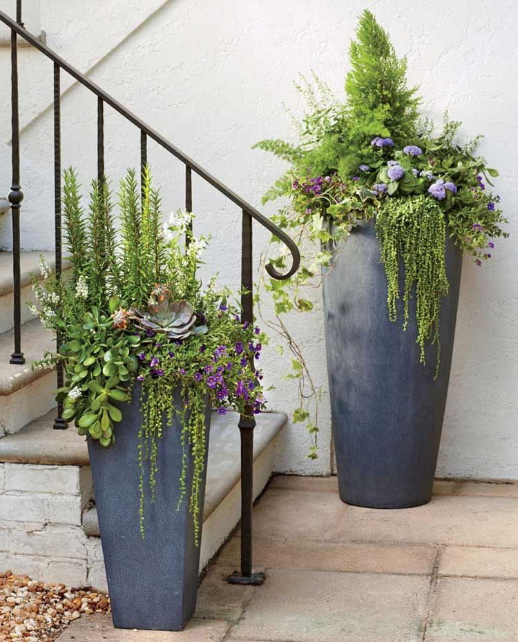 Home Ideas Review In 2020 Porch Flowers Garden Containers Container Gardening