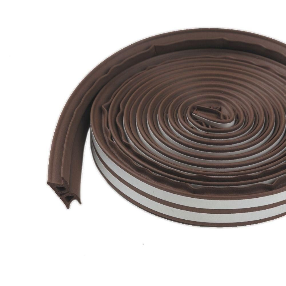 M D Building Products 3 8 In X 17 Ft Brown Silicone Rubber Lifetime Weatherstrip For Extra Large Gap Weather Stripping M D Building Products Door Accessories