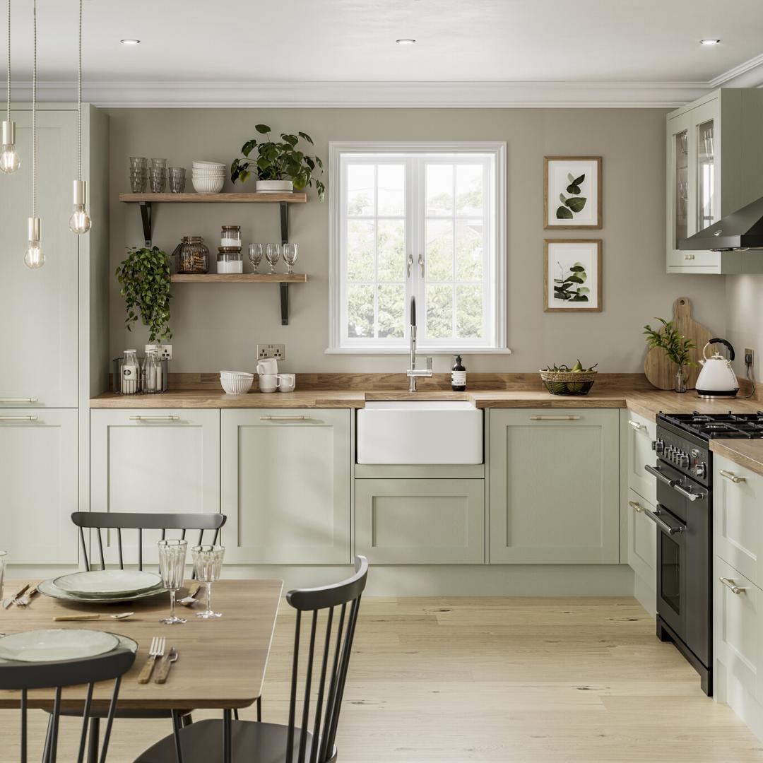 Chilcomb Sage Green Kitchen -   19 sage green kitchen cabinets two tone ideas