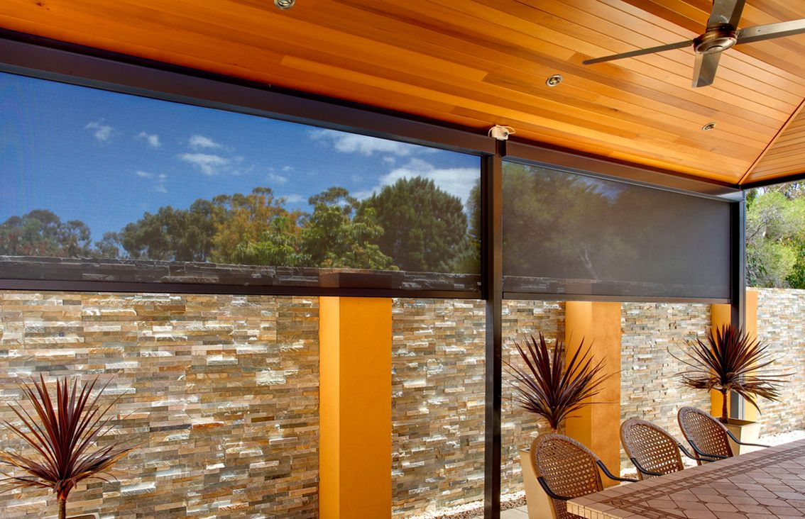 Stay Cool With Outdoor Roller Blinds In The Sunshine Coast Outdoor Blinds Patios Outdoor Blinds Outdoor Window Decor